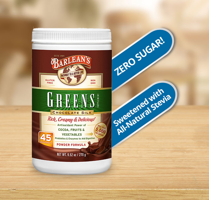 Barleans Chocolate Silk Greens